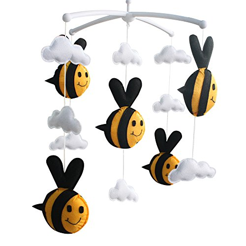 [Bee, Spring] Infant Musical Mobile, Nursery Mobile, Baby Mobile ()