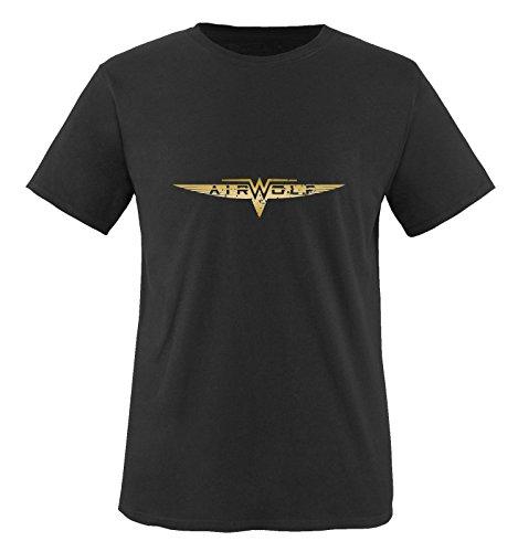 Negro Hombre Mangas cortas wolf Camiseta Dorado Air Negro wB6qCB4z
