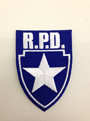 Resident Evil RPD Blue Shield Silver Star Cosplay Patch
