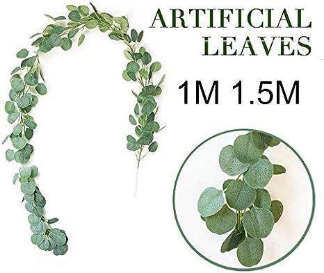 Gulin InsRattan Artificiel Cr/éatif Plantes Artificielles with 1 M 1,5 M Fait Main Ornement