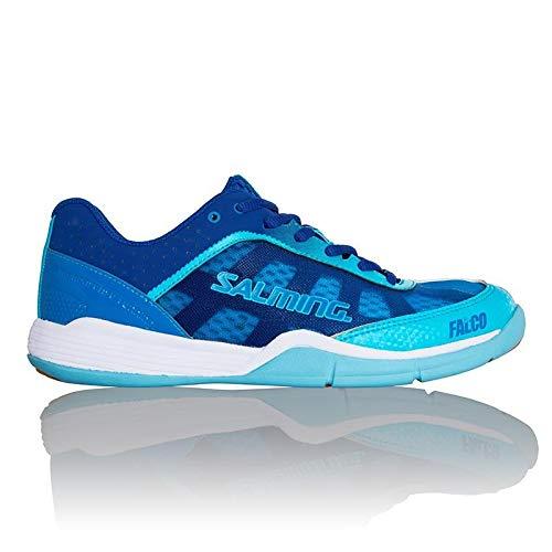Salming Falco Womens Indoor Court Shoe (Blue) (5.5)