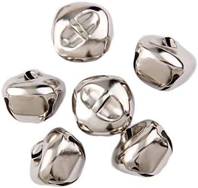 Argent, 10mm Yalulu 100pcs Or//Argent Mini Petites Clochettes Grelots en M/étal Jingle Bells Clochettes Grelots pour No/ël D/écoration