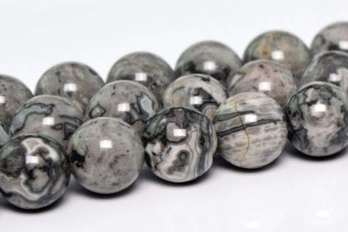 (4mm Natural Gray Crazy Lace Jasper Gemstone Beads Round Loose Beads 15.5'' Crafting Key Chain Bracelet Necklace Jewelry Accessories Pendants)