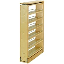 """Rev-A-Shelf 432-TF39-6C 432 Series 39"""" Tall Filler Pull Out with Adjustable Shel, Natural Wood"""