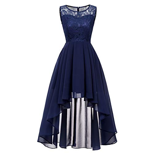 (❤️Sumeimiya Womens Vintage Princess Dress, Lace Floral Cocktail Dress Neckline Party Aline Swing Dress Elegant Popular Dress)