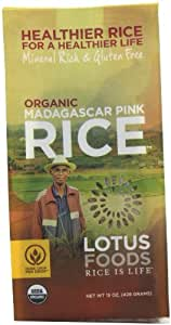 Lotus Foods Organic Madagascar Pink Rice, 15-Ounce (Pack of 6)