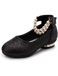 Girls Adorable Dress Mary Jane Glitter Shoes (Low-Heels/Flats)