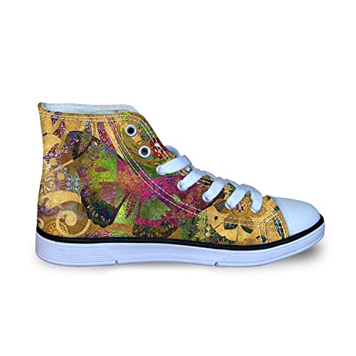 Best Rated for Winter Gift 2018 Women High Top Canvas Shoes Casual Flat Shoes Cute Animal Butterfly Printed,10.5,and 1333 AK -