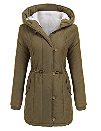 Meaneor Womens Hooded Warm Winter Faux Fur Lined Parkas Long Coats