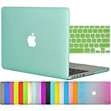 """Easygoby 2in1 Matte Frosted Silky-Smooth Soft-Touch Hard Shell Case Cover for Apple 13.3""""/ 13-inch MacBook Pro with Retina Display Model A1425 /A1502 (NO CD-ROM Drive) + Keyboard Cover - Green"""