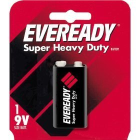 Heavy Duty 9v Battery - Eveready Heavy Duty 1222BP 9-Volt Battery