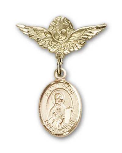 Icecarats Or Bijoux De Créateurs Rempli R. Paul La Broche Badge Apôtre Charme D'Ange 1 X 3/4