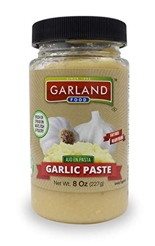 Amore Garlic Paste - Premium Garlic Paste - Superior Quality - NO Artificial Ingredients - 8 Ounces By Garland Food