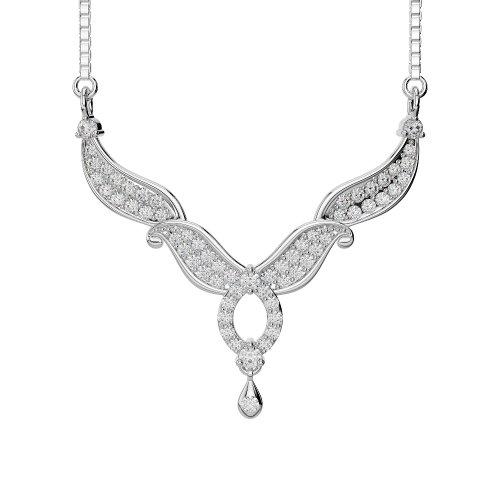 Or blanc/or jaune/Platine Diamant Collier avec chaîne dnc-2239-vsgh