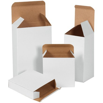 Beauty Chipboard (3 x 3 x 4 White Chip Carton? (RTS21W) Category: Chipboard Boxes by Shoplet Select)