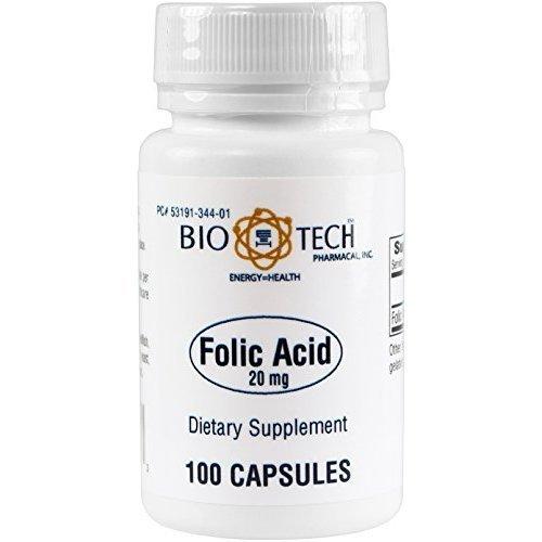 BioTech Pharmacal - Folic Acid (20mg) - 100 Count (FFP)
