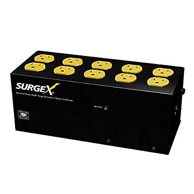 SurgeX SA-1810 Standalone Surge Eliminator - 15A / 120V, 10 outlets