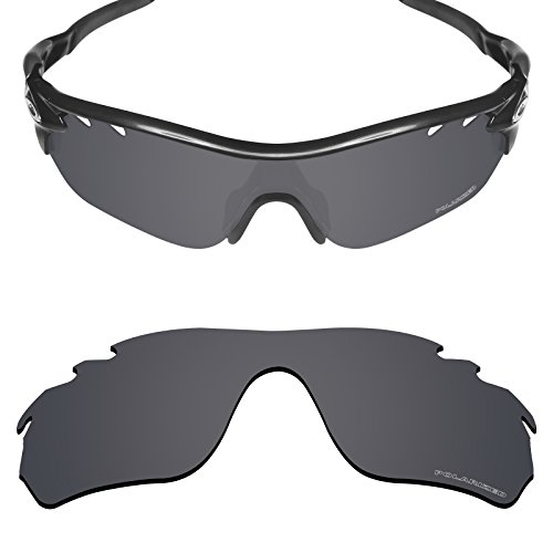 Mryok+ Polarized Replacement Lenses for Oakley RadarLock Edge Vented - Stealth (Edge Replacement Lenses)
