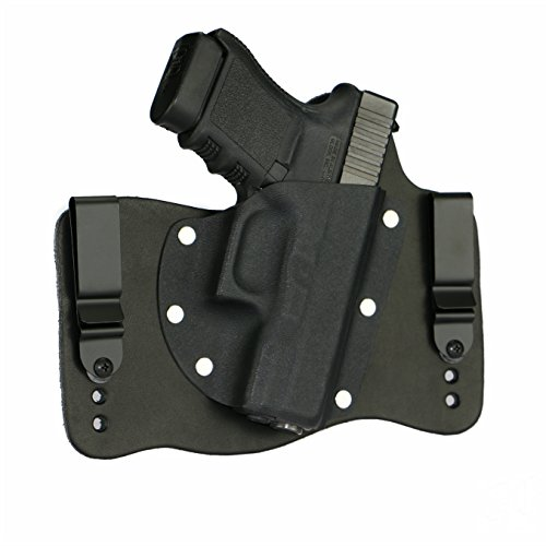FoxX Holsters Glock 29/30/30SF in The Waistband Hybrid Holster Tuckable, Concealed Carry Gun Holster (Black)