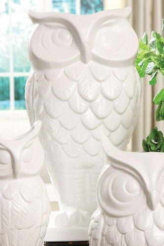 Amazon Owl Vase Wide White Home Kitchen