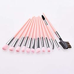 Foundation Cosmetic Eyebrow Eyeshadow Brush Makeup Brush Sets Tools 12PCS