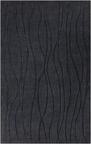 """3'3"""" x 5'3"""" Ambient Rays Midnight Blue Hand Woven Area Throw Rug"""