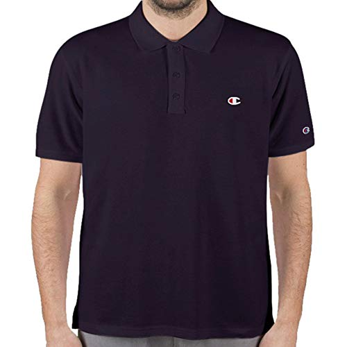 Champion Mens Big and Tall Short Sleeve Pique Polo Shirt Navy - Pique Champion