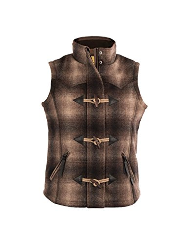 - STS Ranchwear Women's Plaid Wool Vest Toggle Closures (Medium)
