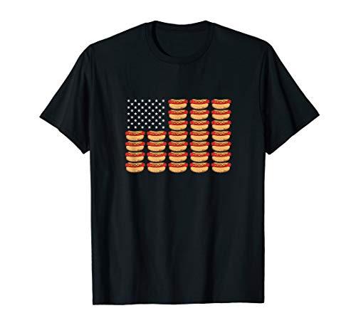 Hot Dog American Flag Patriotic -