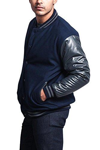 Review G-Style USA Letterman Varsity Jacket VJ100A – Navy/Charcoal – 2X-Large – KK1E