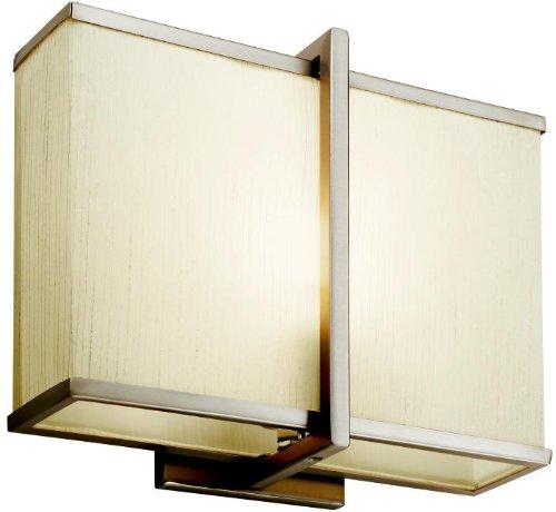(Kichler 10421SN Rigel Wall Sconce 1-Light Fluorescent, Satin Nickel)