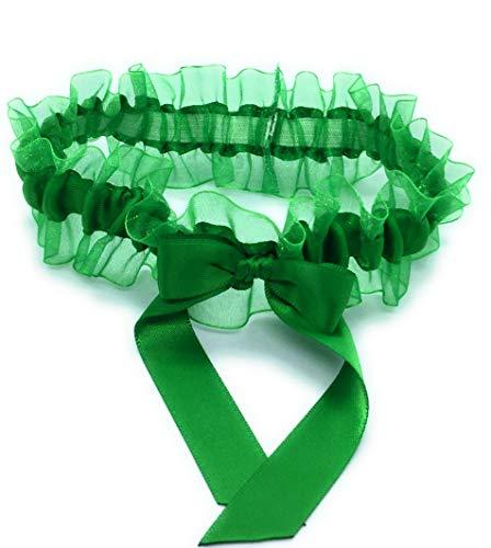 Emerald Green Wedding Garter, Prom Garter, Bridal Garter, Garter for Women, Bridesmaid Garters, Bridal Gift