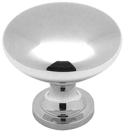 (10 Pack - Cosmas 5305CH Polished Chrome Traditional Round Solid Cabinet Hardware Knob - 1-1/4