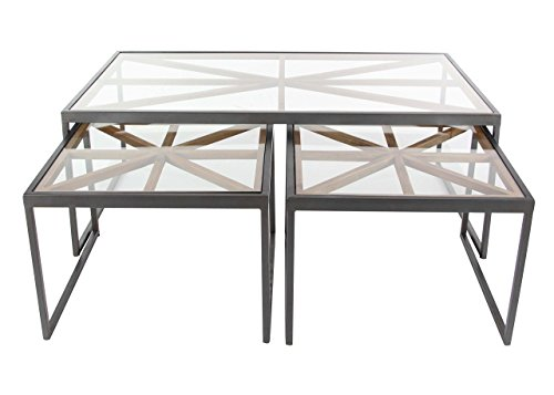 Square Iron Nesting Tables - Deco 79 44397 20