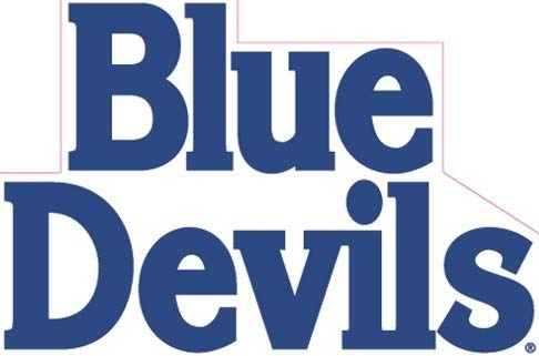 6 Inch Blue Devils Logo Decal Duke University Removable Wall Sticker Art NCAA Home Room Decor 6 by 4 Inches