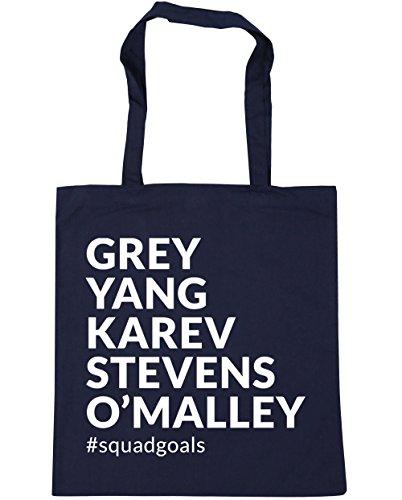 42cm Karev Shopping Yang Grey x38cm O'Malley squadgoals Gym Tote Navy Bag Stevens Beach French HippoWarehouse litres 10 xnSTWn