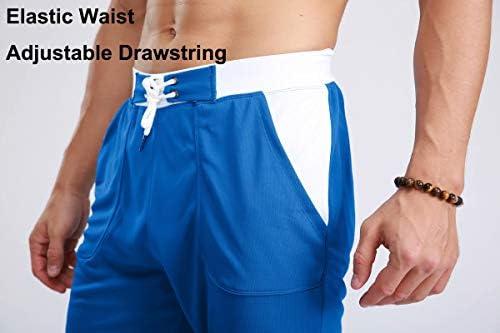 MAGCOMSEN Men's Joggers Workout Gym Running Mesh Shorts Quick Dry Lightweight Below Knee Sweatpants 2