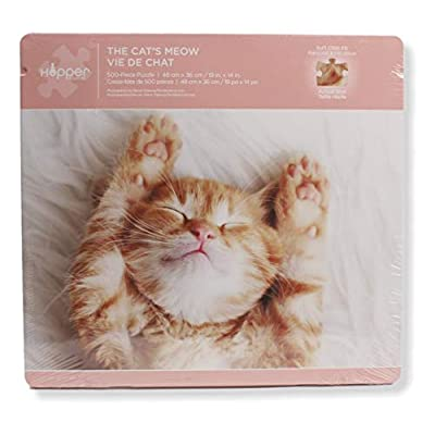The Cat's Meow 500 Piece Puzzle in Tin: Toys & Games