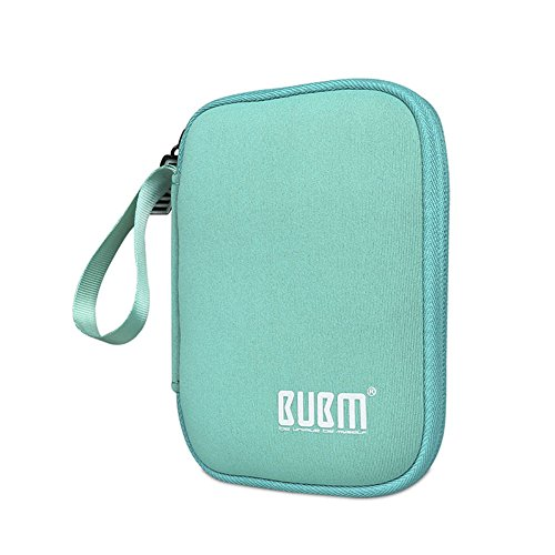 BUBM Enclosure 2.5'' USB 3.0 Hard Drive Bag Power Bank Portable Charge Travel Case, 5.9'', Powder Blue (QYD-S-01) by BUBM (Image #7)