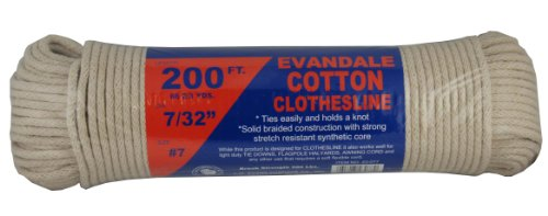43-077 7/32-Inch Evandale Cotton Clothesline 200-Feet Hank (Clothesline Cord)