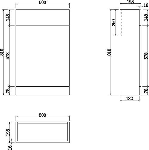 Aurora 900mm Bathroom Vanity Unit Basin /& Toilet Combined Furniture Left Hand Grey