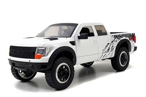 Amazon.com: 2011 Ford F-150 SVT Raptor Pickup Truck White 1/24 by ...