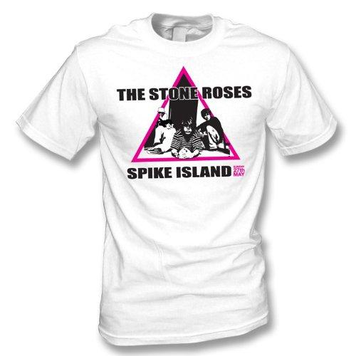 TshirtGrill Das Steinrosen-Spitzen-Insel-T-Shirt, Farbe- Weiß