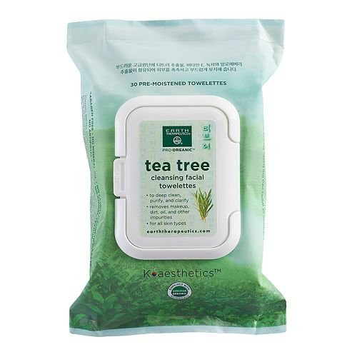 Earth Therapeutics 30-ct. Tea Tree Cleansing & Makeup Removing Facial Towelettes by Earth Therapeutics