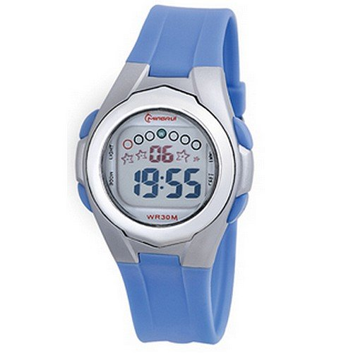 Montre Concept - Relojes digitales hombre Mingrui - Correa Plástico Azul - Dial Redondo Fondo Gris: Amazon.es: Relojes