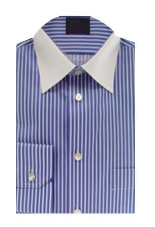 Amazon.com | Eton of Sweden Blue and White Vertical Striped Shirt ...