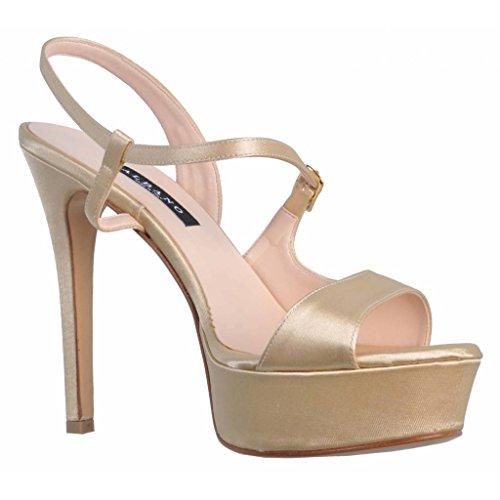 Sandalias de vestir para mujer, color gold , marca ALBANO, modelo Sandalias De Vestir Para Mujer ALBANO LYDIE KONA Gold Gold