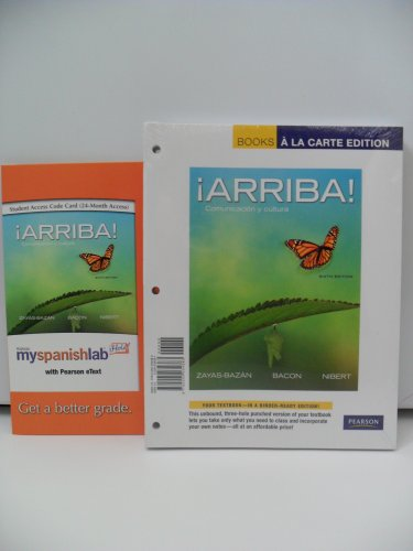 Arriba   Comunicaci N Y Cultura  Books A La Carte Plus Myspanishlab With Etext  Multi Semester Access     Access Card Package  6Th Edition