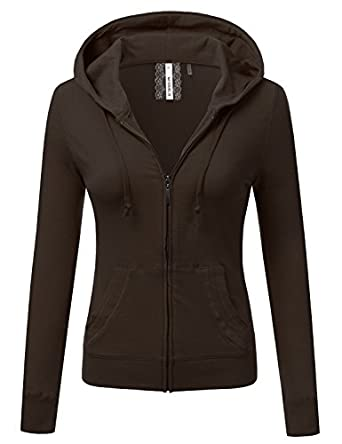 Doublju Lightweight Thin Zip-Up Hoodie Jacket (Plus size available ...