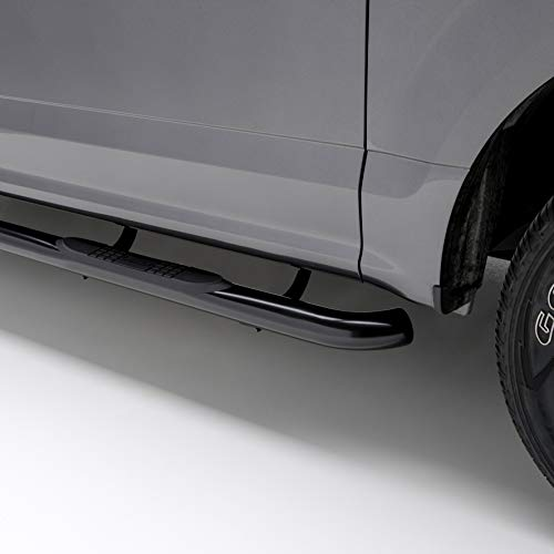 - ARIES 205003 3-Inch Round Black Steel Nerf Bars Select Dodge Ram 1500